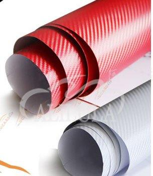ALILULA 3D Carbon fiber vinyl fim with bubble free carbon fiber wrap vinyl film in white and red color in 1.52*30m