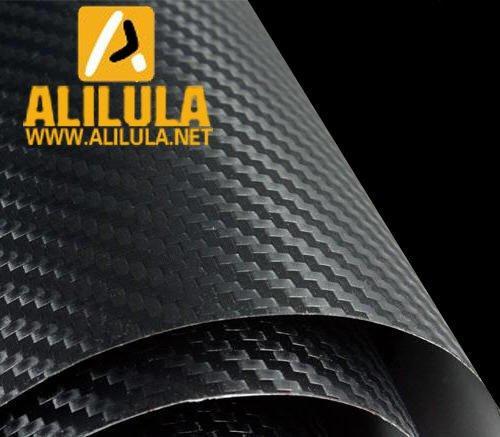 3DTQ-Bl, Black High Flexible 1.52m*30m With Air Channel Bubble Free 3D Carbon Vinyl Film