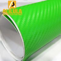 3DTQ-Gr, Green High Flexible 1.52m*30m With Air Channel Bubble Free 3D Carbon Vinyl Film