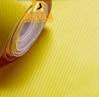 3DTQ-Y, Yellow High Flexible 1.52m*30m With Air Channel Bubble Free 3D Carbon Vinyl Film