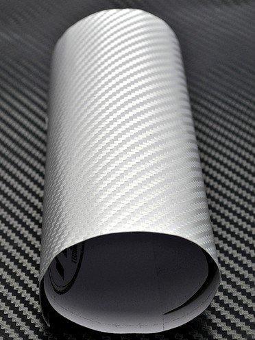 3DTQ-W, White High Flexible 1.52m*30m With Air Channel Bubble Free 3D Carbon Vinyl Film