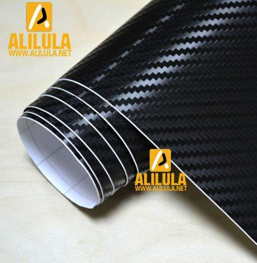 3DTQ-BBl, Black Big Lattic High Flexible 1.52m*30m With Air Channel Bubble Free 3D Carbon Vinyl Film