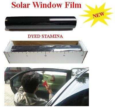 50cm*30m Super Dark Black 5% Window Tint Film,V-BK05