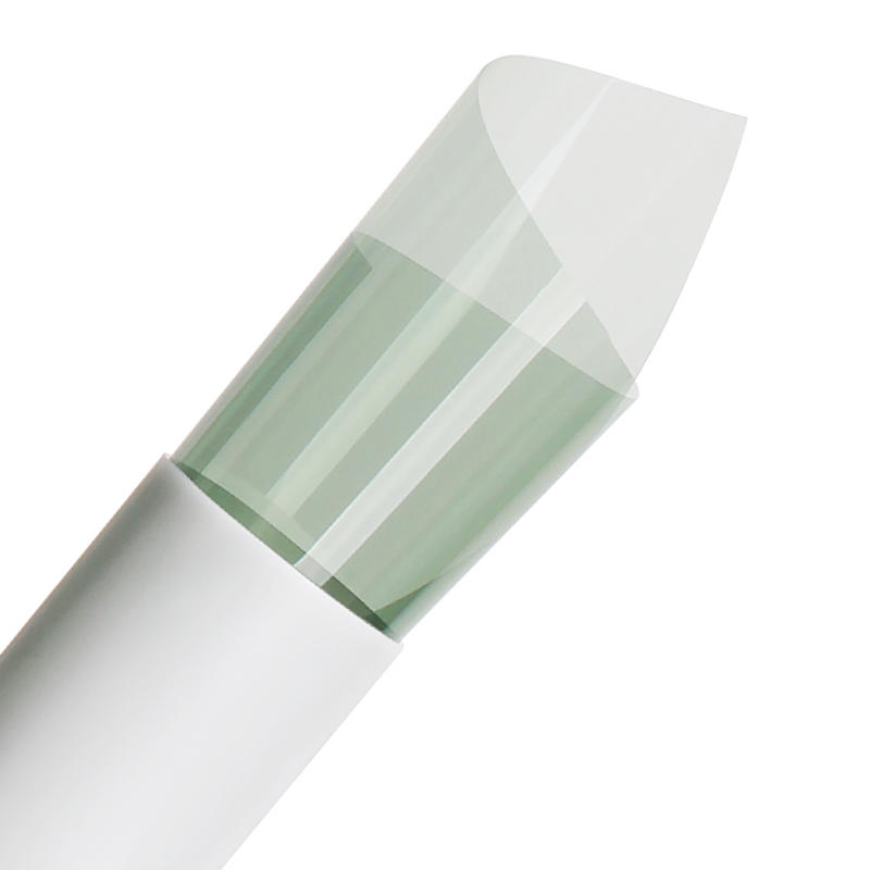Customized size polyester film self adhesive light green solar car window glass sticker