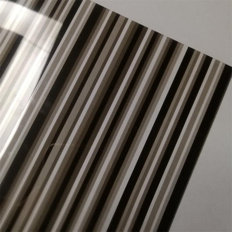 Decorative Window Tint no adhesive reusable 60inch*100ft stripe privacy decor window film