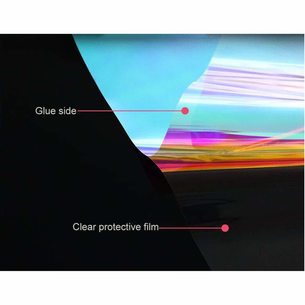 Beautiful PET material 1.38*30m roll size self adhesive rainbow dichroic tint film for home glass
