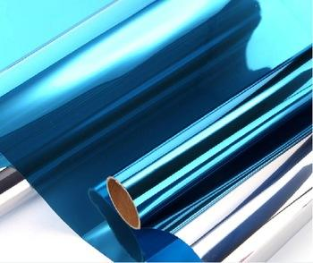Silver&Blue color self adhesive heat rejection anti scratch 1.52*30m VLT 15% solar window building decorative film