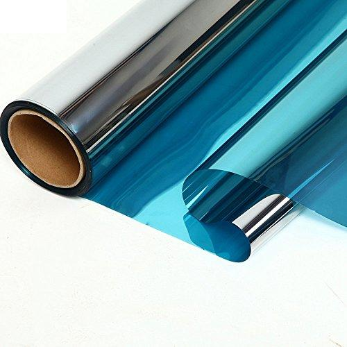 Heat rejection IR cut blue&silver reflective self adhesive 1.52*30m PET material building glass tint film