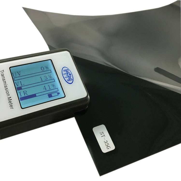 Self adhesive no fade charcoal VLT 35% heat rejection car window sun film